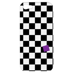Dropout Purple Check Apple Iphone 5 Hardshell Case by designworld65