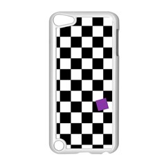 Dropout Purple Check Apple Ipod Touch 5 Case (white) by designworld65