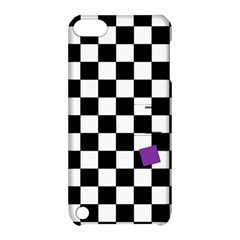 Dropout Purple Check Apple Ipod Touch 5 Hardshell Case With Stand by designworld65