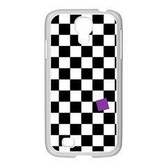 Dropout Purple Check Samsung Galaxy S4 I9500/ I9505 Case (white) by designworld65