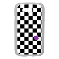 Dropout Purple Check Samsung Galaxy Grand Duos I9082 Case (white) by designworld65