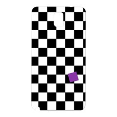 Dropout Purple Check Samsung Galaxy Note 3 N9005 Hardshell Back Case by designworld65