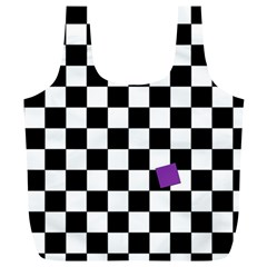 Dropout Purple Check Full Print Recycle Bags (l)  by designworld65