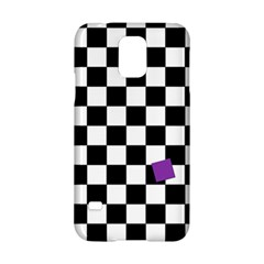 Dropout Purple Check Samsung Galaxy S5 Hardshell Case  by designworld65