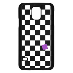 Dropout Purple Check Samsung Galaxy S5 Case (black) by designworld65