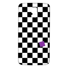 Dropout Purple Check Samsung Galaxy S5 Back Case (white) by designworld65