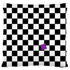 Dropout Purple Check Standard Flano Cushion Case (two Sides) by designworld65