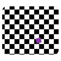 Dropout Purple Check Double Sided Flano Blanket (small)  by designworld65