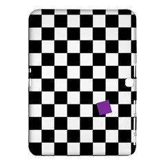 Dropout Purple Check Samsung Galaxy Tab 4 (10 1 ) Hardshell Case  by designworld65