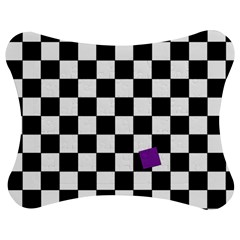 Dropout Purple Check Jigsaw Puzzle Photo Stand (bow) by designworld65