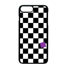 Dropout Purple Check Apple Iphone 7 Plus Seamless Case (black) by designworld65