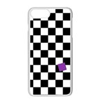 Dropout Purple Check Apple iPhone 7 Plus White Seamless Case Front