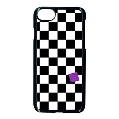Dropout Purple Check Apple Iphone 7 Seamless Case (black) by designworld65