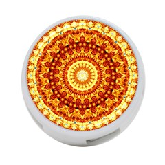Powerful Love Mandala 4 Port Usb Hub (one Side) by designworld65