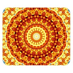Powerful Love Mandala Double Sided Flano Blanket (small)  by designworld65