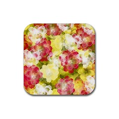 Flower Power Rubber Coaster (square)  by designworld65