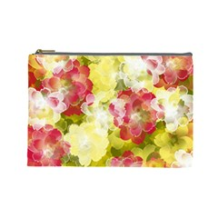 Flower Power Cosmetic Bag (large)  by designworld65