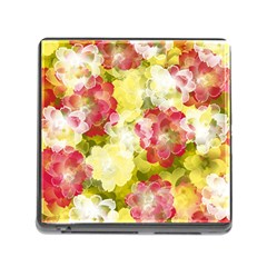 Flower Power Memory Card Reader (square) by designworld65