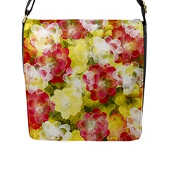 Flower Power Flap Messenger Bag (l)  by designworld65