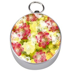 Flower Power Silver Compasses by designworld65