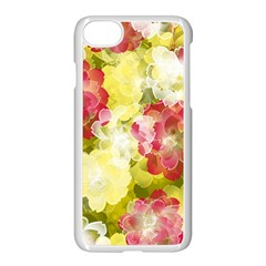 Flower Power Apple Iphone 7 Seamless Case (white) by designworld65