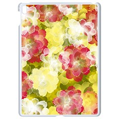 Flower Power Apple Ipad Pro 9 7   White Seamless Case by designworld65