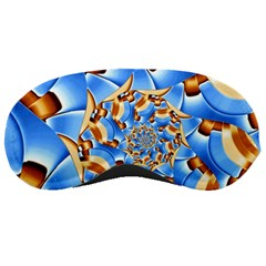 Gold Blue Bubbles Spiral Sleeping Masks by designworld65