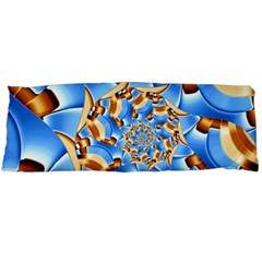 Gold Blue Bubbles Spiral Body Pillow Case Dakimakura (two Sides) by designworld65