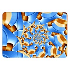 Gold Blue Bubbles Spiral Samsung Galaxy Tab 8 9  P7300 Flip Case by designworld65