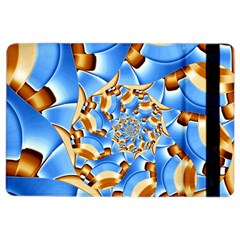 Gold Blue Bubbles Spiral Ipad Air 2 Flip by designworld65