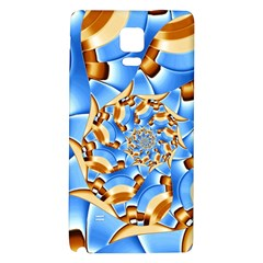 Gold Blue Bubbles Spiral Galaxy Note 4 Back Case by designworld65