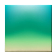 Sealife Green Gradient Tile Coasters by designworld65