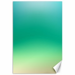 Sealife Green Gradient Canvas 12  X 18