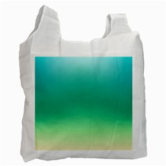Sealife Green Gradient Recycle Bag (one Side) by designworld65