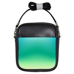 Sealife Green Gradient Girls Sling Bags by designworld65