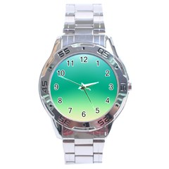 Sealife Green Gradient Stainless Steel Analogue Watch by designworld65