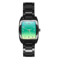 Sealife Green Gradient Stainless Steel Barrel Watch by designworld65