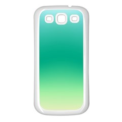 Sealife Green Gradient Samsung Galaxy S3 Back Case (white) by designworld65