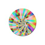 Irritation Funny Crazy Stripes Spiral Magnet 3  (Round) Front