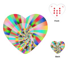 Irritation Funny Crazy Stripes Spiral Playing Cards (heart)  by designworld65