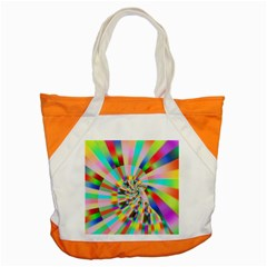 Irritation Funny Crazy Stripes Spiral Accent Tote Bag by designworld65