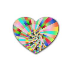 Irritation Funny Crazy Stripes Spiral Heart Coaster (4 Pack)  by designworld65