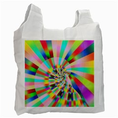 Irritation Funny Crazy Stripes Spiral Recycle Bag (one Side) by designworld65