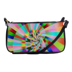 Irritation Funny Crazy Stripes Spiral Shoulder Clutch Bags by designworld65