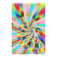 Irritation Funny Crazy Stripes Spiral Shower Curtain 48  X 72  (small)  by designworld65