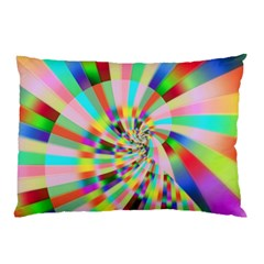 Irritation Funny Crazy Stripes Spiral Pillow Case (two Sides) by designworld65
