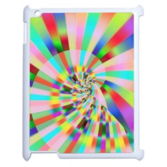 Irritation Funny Crazy Stripes Spiral Apple Ipad 2 Case (white) by designworld65
