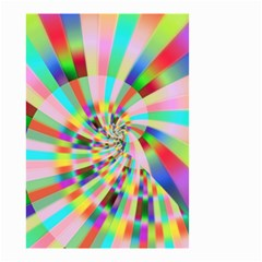Irritation Funny Crazy Stripes Spiral Small Garden Flag (two Sides) by designworld65