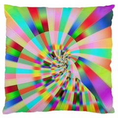 Irritation Funny Crazy Stripes Spiral Large Cushion Case (one Side) by designworld65
