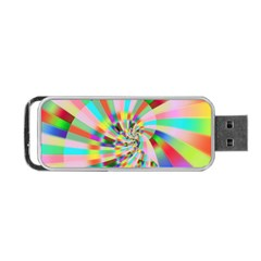 Irritation Funny Crazy Stripes Spiral Portable Usb Flash (two Sides) by designworld65